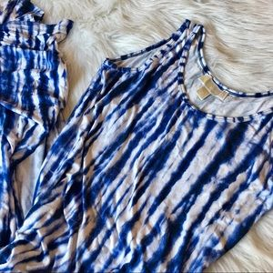 {MICHAEL Michael Kors} Tie Dye Maxi w/ Side Vents
